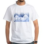 Blue Mountains White T-Shirt