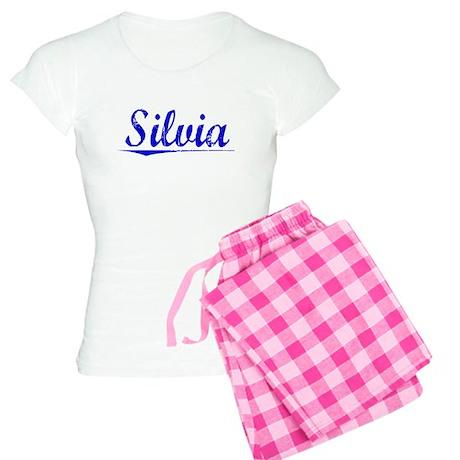 Silvia, Blue, Aged Women's Light Pajamas