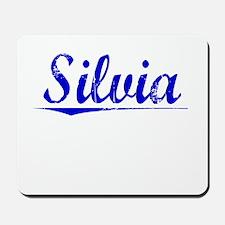 Silvia, Blue, Aged Mousepad