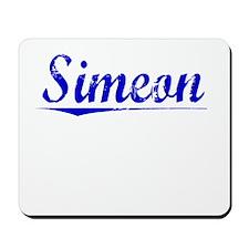Simeon, Blue, Aged Mousepad