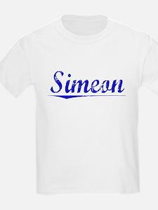 Simeon, Blue, Aged T-Shirt