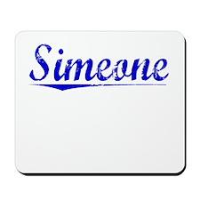 Simeone, Blue, Aged Mousepad