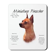 Red Miniature Pinscher Mousepad