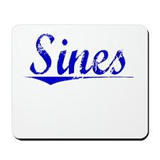 Sines, Blue, Aged Mousepad