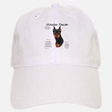 Black/Rust Miniature Pinscher Baseball Baseball Cap
