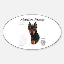 Black/Rust Miniature Pinscher Oval Decal