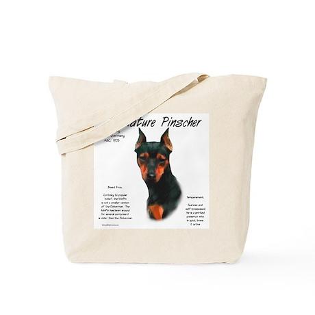 Min Pin (black & rust) Tote Bag