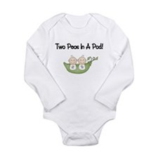 Two Peas In A Pod Twins Body Suit