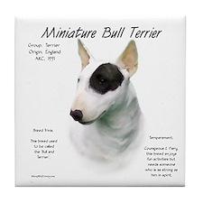 Miniature Bull Terrier Tile Coaster