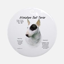 Miniature Bull Terrier Ornament (Round)