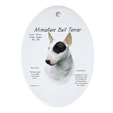 Miniature Bull Terrier Oval Ornament