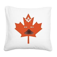 Canadian Masons Halloween Leaf Square Canvas Pillo