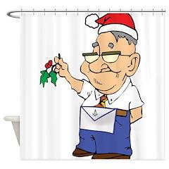 Mistletoe Masons Shower Curtain