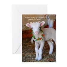 Lamb/Wreath Christmas Cards (Pk of 10)