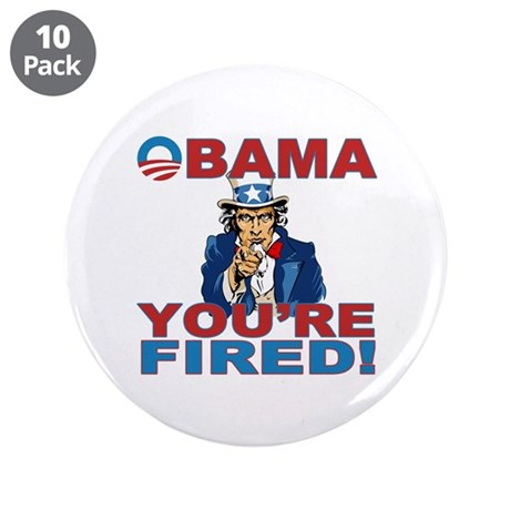 """obama your fired.png 3.5"""" Button (10 pack)"""