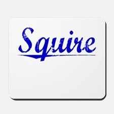 Squire, Blue, Aged Mousepad
