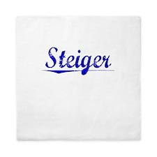 Steiger, Blue, Aged Queen Duvet