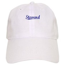 Steward, Blue, Aged Baseball Cap