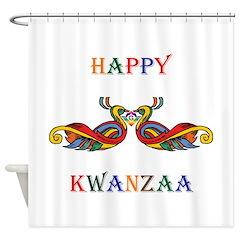 Happy Masonic Kwanzaa Shower Curtain