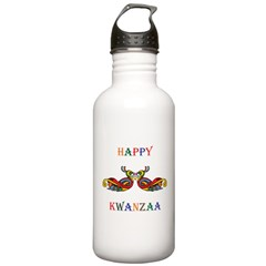 Happy Masonic Kwanzaa Water Bottle