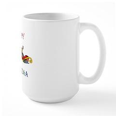 Happy Masonic Kwanzaa Large Mug