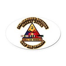 Army - DS - 2nd AR Div Oval Car Magnet