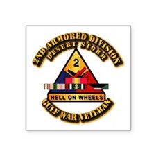 "Army - DS - 2nd AR Div Square Sticker 3"" x 3"""