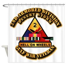 Army - DS - 2nd AR Div Shower Curtain