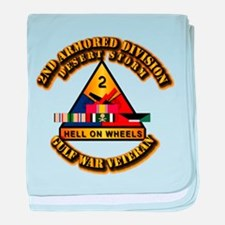 Army - DS - 2nd AR Div baby blanket