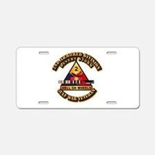 Army - DS - 2nd AR Div Aluminum License Plate