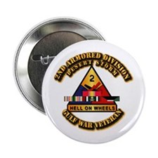 """Army - DS - 2nd AR Div 2.25"""" Button"""