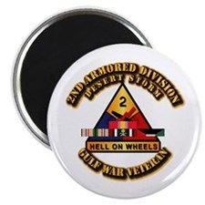 """Army - DS - 2nd AR Div 2.25"""" Magnet (10 pack)"""
