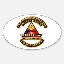 Army - DS - 2nd AR Div Sticker (Oval)