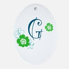 Letter G Ornament (Oval)