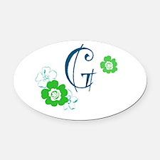 Letter G Oval Car Magnet
