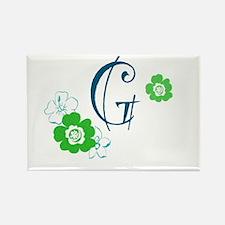 Letter G Rectangle Magnet