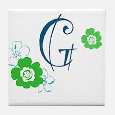 Letter G Tile Coaster