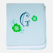 Letter G baby blanket