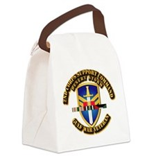 Army - DS - 2nd COSCOM Canvas Lunch Bag