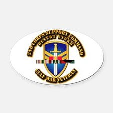 Army - DS - 2nd COSCOM Oval Car Magnet