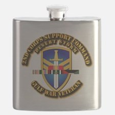 Army - DS - 2nd COSCOM Flask