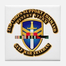 Army - DS - 2nd COSCOM Tile Coaster