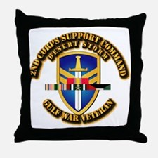 Army - DS - 2nd COSCOM Throw Pillow