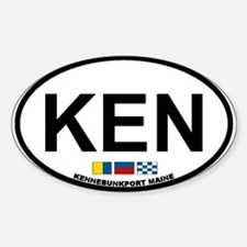 Kennebunk ME - Oval Design. Sticker (Oval)