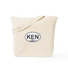 Kennebunk ME - Oval Design. Tote Bag
