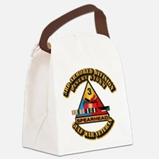 Army - DS - 3rd AR Div Canvas Lunch Bag