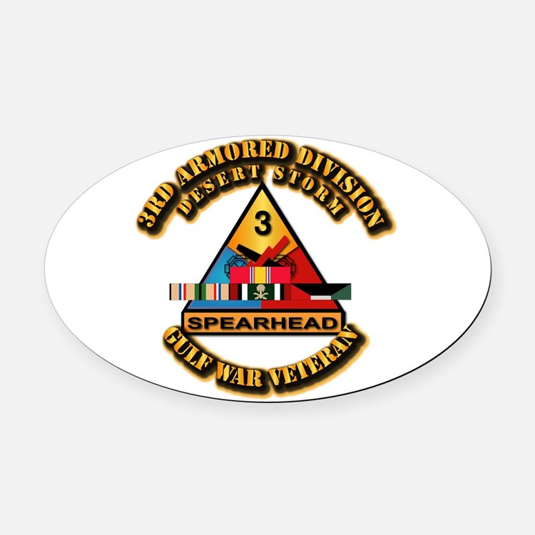 Army - DS - 3rd AR Div Oval Car Magnet
