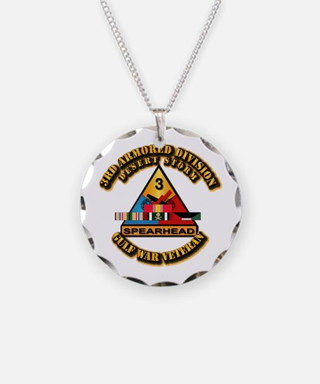 Army - DS - 3rd AR Div Necklace Circle Charm
