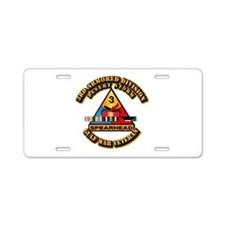 Army - DS - 3rd AR Div Aluminum License Plate