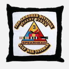 Army - DS - 3rd AR Div Throw Pillow